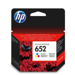 Original Tri-colour HP 652 Ink Cartridge
