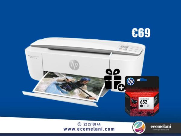 HP Deskjet 3775 All-in-One Color Inkjet Printer, A4, Print, Copy, Scan & Wireless + Free Original Black HP 652 Ink Cartridge