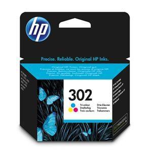 Original HP 302 Tri-Colour Ink Cartridge (F6U65AE) - Ecomelani