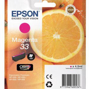 Original Epson 33 Magenta Ink Cartridge (C13T33434010) - Ecomelani