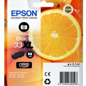 Original Epson 33XL Photo Black Ink Cartridge (C13T33614010) - Ecomelani