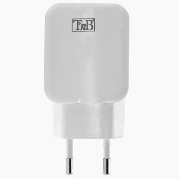 TNB 2.4A Mains 2 USB Charger 12W White - Ecomelani