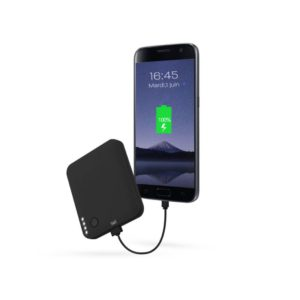 TNB Universal Powerbank 6000 MAH Flaming USB Slim Black - Ecomelani