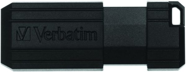 32GB Pinstripe USB Flash Drive Black - Ecomelani
