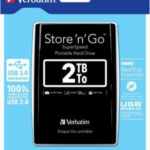 2TB Store 'n' Go USB 3.0 Portable Hard Drive Black - Ecomelani