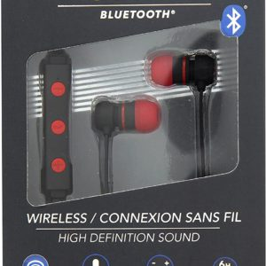 TNB Flat Red Bluetooth Earphones - Ecomelani