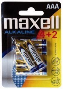 Batteries Alcaline Maxell AAA 4pcs + 2 Free - Ecomelani