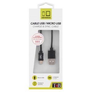 TNB Micro USB Cable 3M Black - Ecomelani
