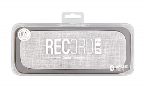 TNB Record Vol.2 BT Speaker Grey 8W Stereo - Micro Vol/Tracks Control - Ecomelani