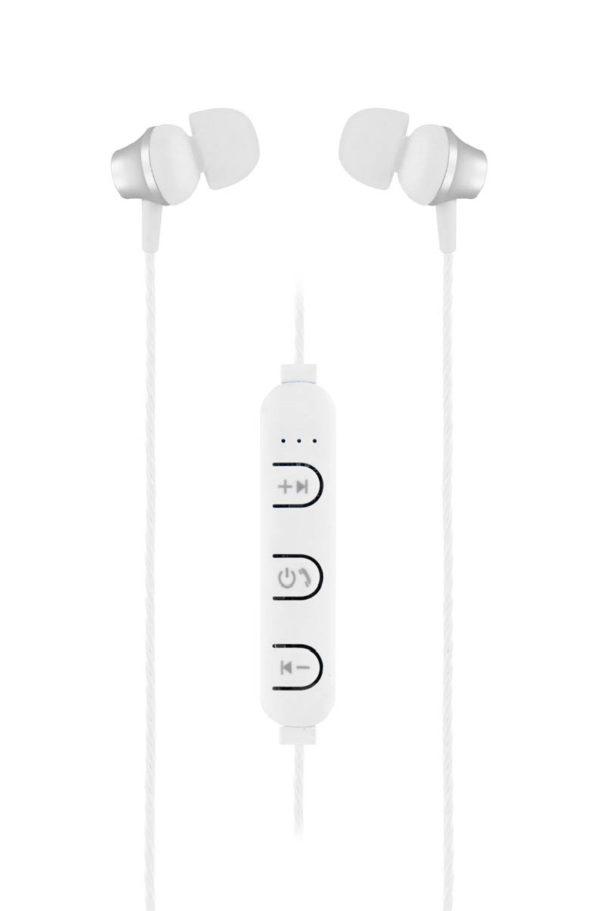 TNB Silver Steel Bluetooth Earphones - Ecomelani