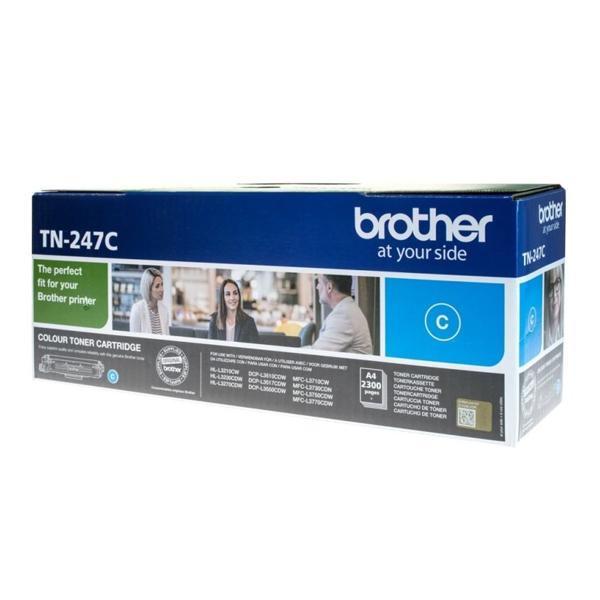 Original Cyan Brother TN-247C Toner Cartridge (TN247C) - Ecomelani