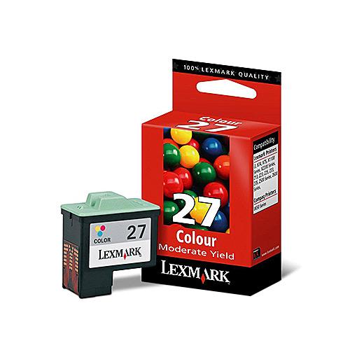 Original 27 Tricolor Ink Cartridge Lexmark 10N0227E - Ecomelani