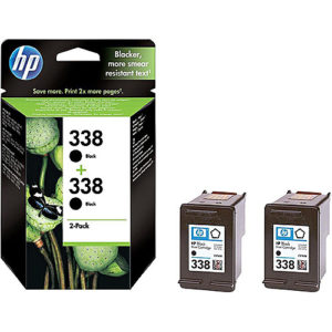 Original Black Ink Cartridge HP 338 (CB331EE) Twin - Ecomelani