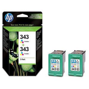 Original Tricolour Ink Cartridge HP 343 (CB332EE) Twin - Ecomelani