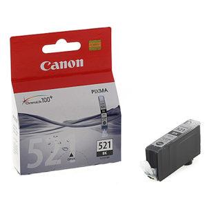 Original Black Ink Cartridge Canon CLI-521BK (2933B001AA) - Ecomelani