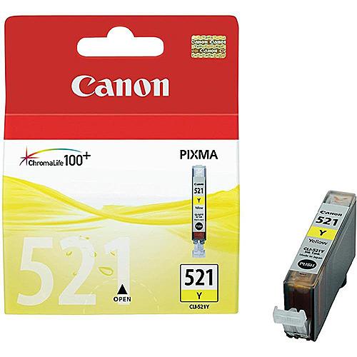 Original Yellow Ink Cartridge Canon CLI-521Y (2936B001AA) - Ecomelani