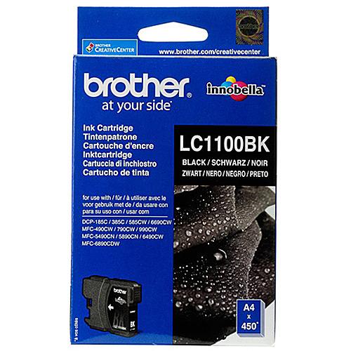Original Black Ink Cartridge Brother LC1100BK - Ecomelani