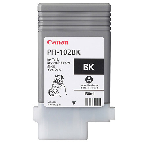 Original Black Ink Cartridge Canon PFI-102BK (0895B001AA) - Ecomelani