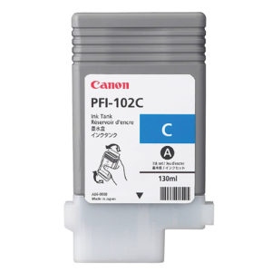 Original Cyan Ink Cartridge Canon PFI-102C (0896B001AA) - Ecomelani