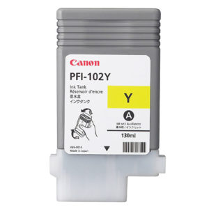 Original Yellow Ink Cartridge Canon PFI-102Y (0898B001AA) - Ecomelani