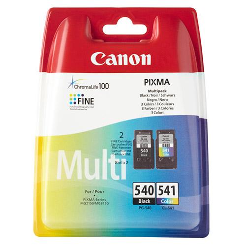 Original Twin Pack Ink Cartridge Canon CL-541 & PG-540 (5225B006AA) - Ecomelani