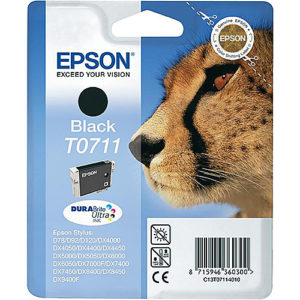 Original Black Ink Cartridge Epson T0711 - Ecomelani
