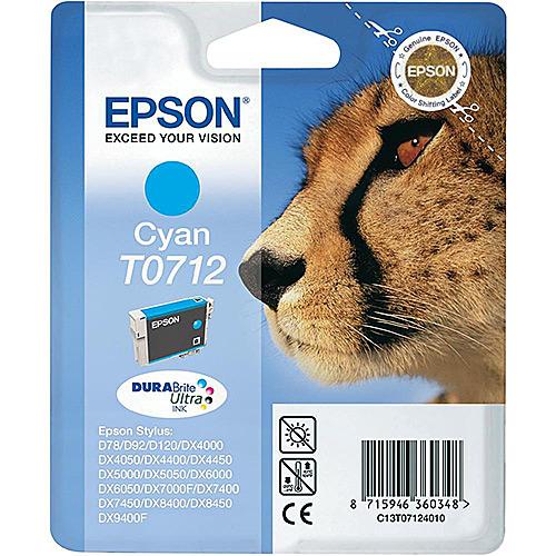 Original Cyan Ink Cartridge Epson T0712 - Ecomelani
