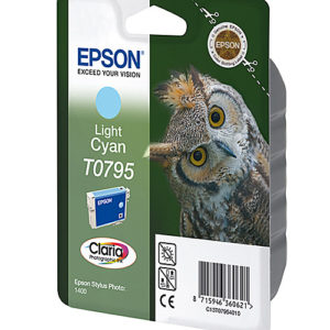 Original Light Cyan Ink Cartridge Epson T0795 - Ecomelani