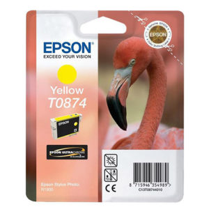 Original Yellow Ink Cartridge Epson T0874 - Ecomelani