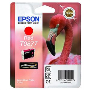 Original Red Ink Cartridge Epson T0877 - Ecomelani