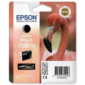 Original Matte Black Ink Cartridge Epson T0878 - Ecomelani