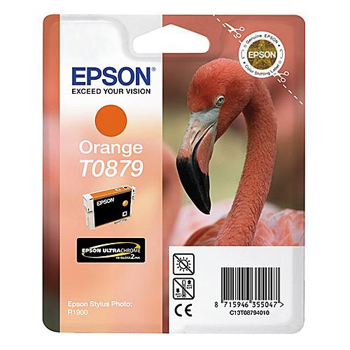 Original Orange Ink Cartridge Epson T0879 - Ecomelani