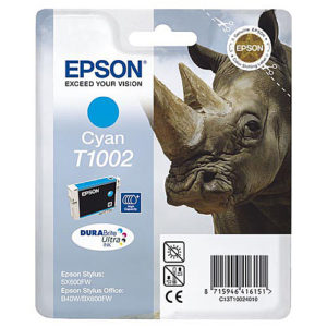 Original Cyan Ink Cartridge Epson T1002 - Ecomelani