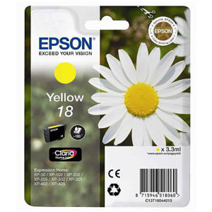 Original Yellow Ink Cartridge Epson T1804 - Ecomelani
