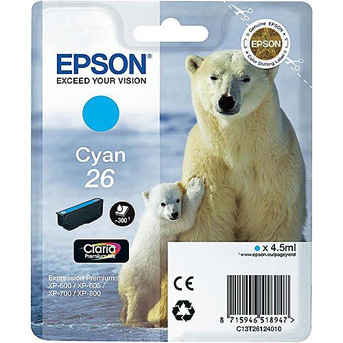 Original Cyan Ink Cartridge Epson T2612 - Ecomelani