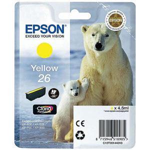 Original Yellow Ink Cartridge Epson T2614 - Ecomelani