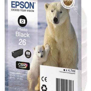 Original Photo Black Ink Cartridge Epson T2631 - Ecomelani