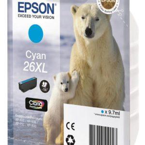 Original Cyan Ink Cartridge Epson T2632 - Ecomelani