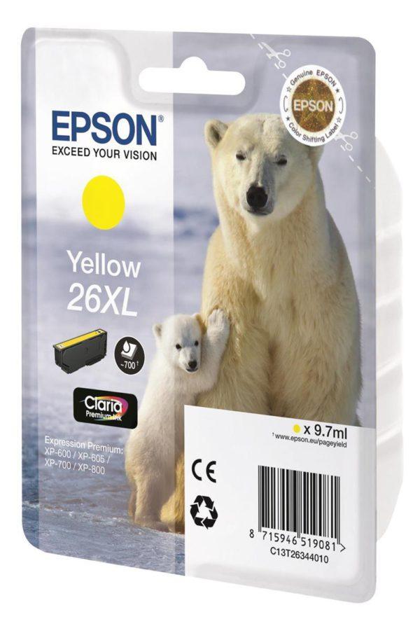 Original Yellow Ink Cartridge Epson T2634 - Ecomelani