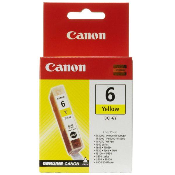 Original Yellow Ink Cartridge Canon BCI-6Y (BCI-6Y) - Ecomelani