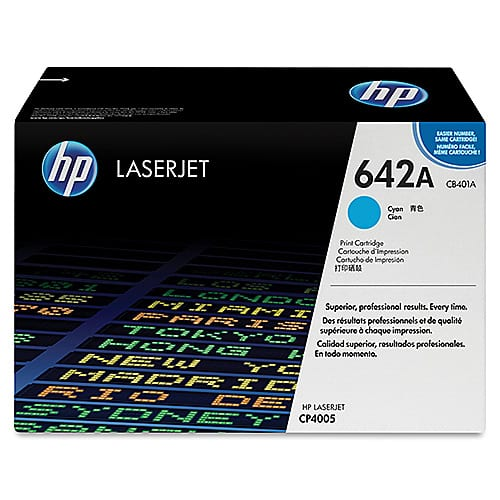 Original Cyan HP CB401A Toner Cartridge 642A - Ecomelani