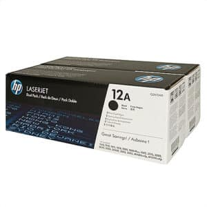 Original Black HP Q2612AD Toner Cartridge 12A - Ecomelani