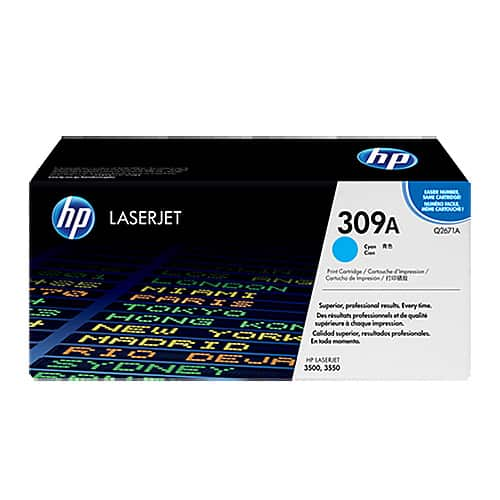 Original Cyan HP Q2671A Toner Cartridge 309A - Ecomelani