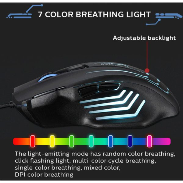 AULA S18 Black RGB Gaming Mouse Wired - Ecomelani