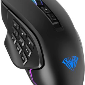 AULA H510 Professional MMO Black Gaming Mouse Wired - Ecomelani